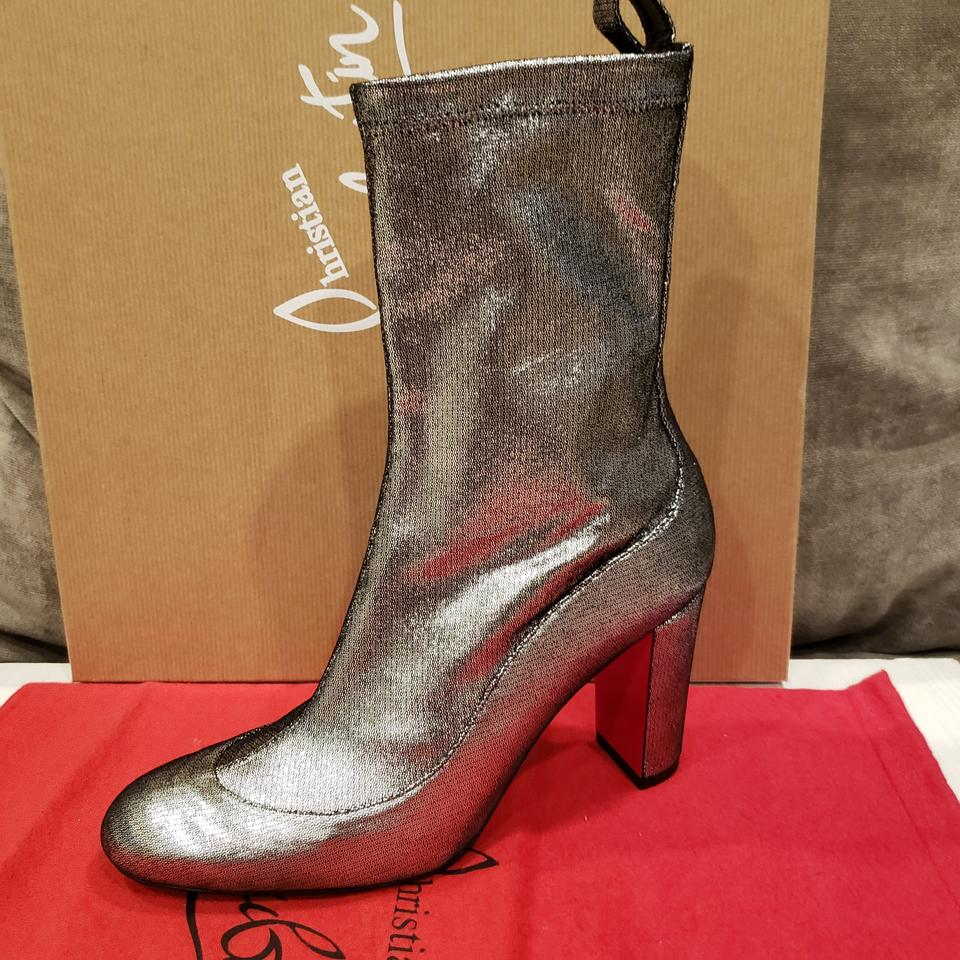 407522ae0801 Christian Louboutin Heels Stretch Metallic Silver Boots Image 11.  123456789101112