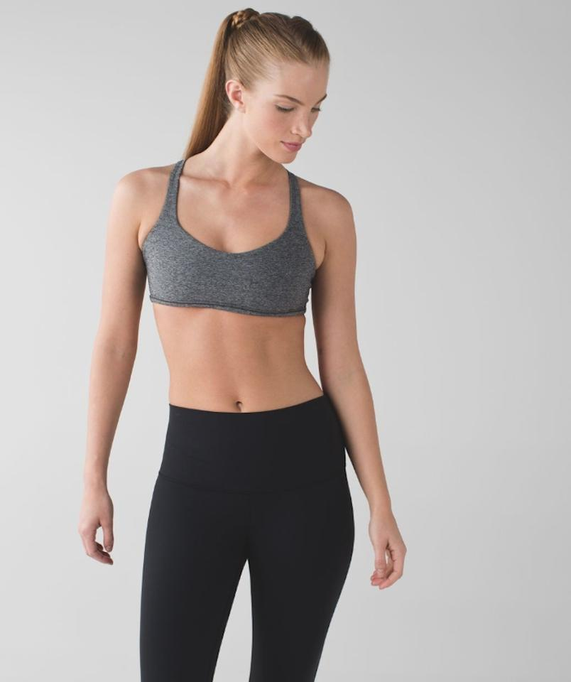 2d65c0ed44 Lululemon Gray Athletica Free To Be Wild Activewear Sports Bra Size ...