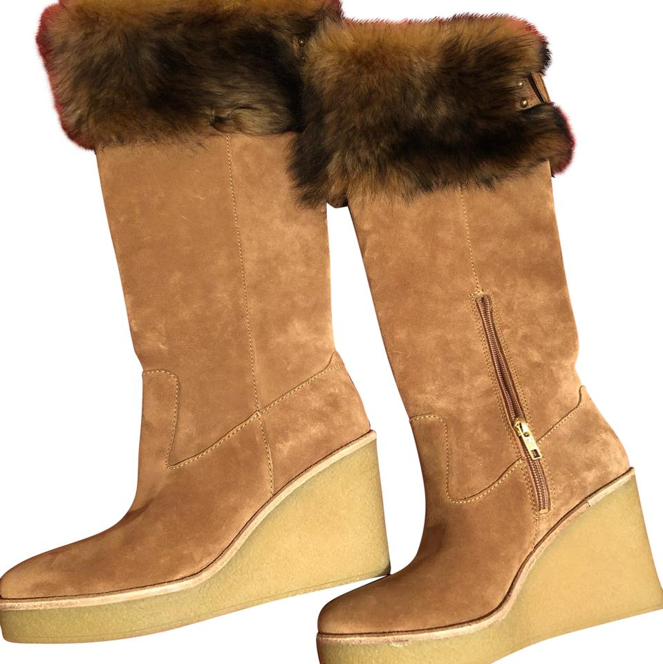 d877a53548f9 UGG Australia Chestnut Valberg Suede Wedge Knee High Boots Booties ...