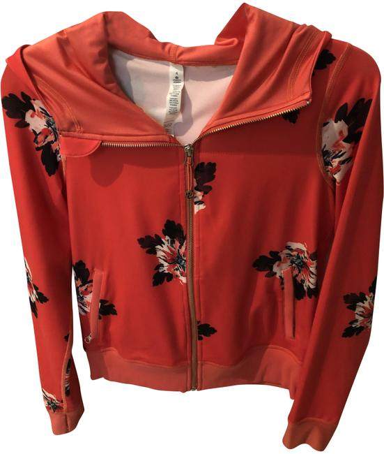 Item - Orange With Hoodie Activewear Outerwear Size 4 (S)