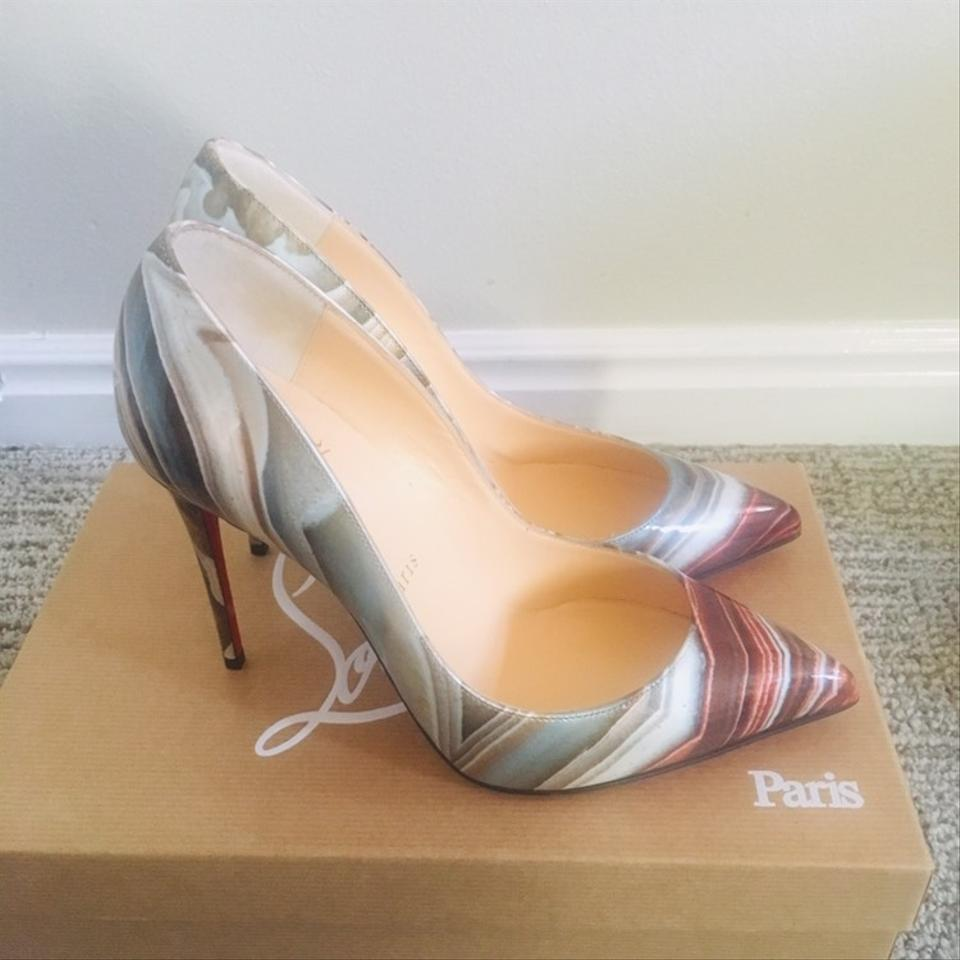 41994d4630d Christian Louboutin Galaxy Beige Pigalle Follies Pointy Toe Pumps ...