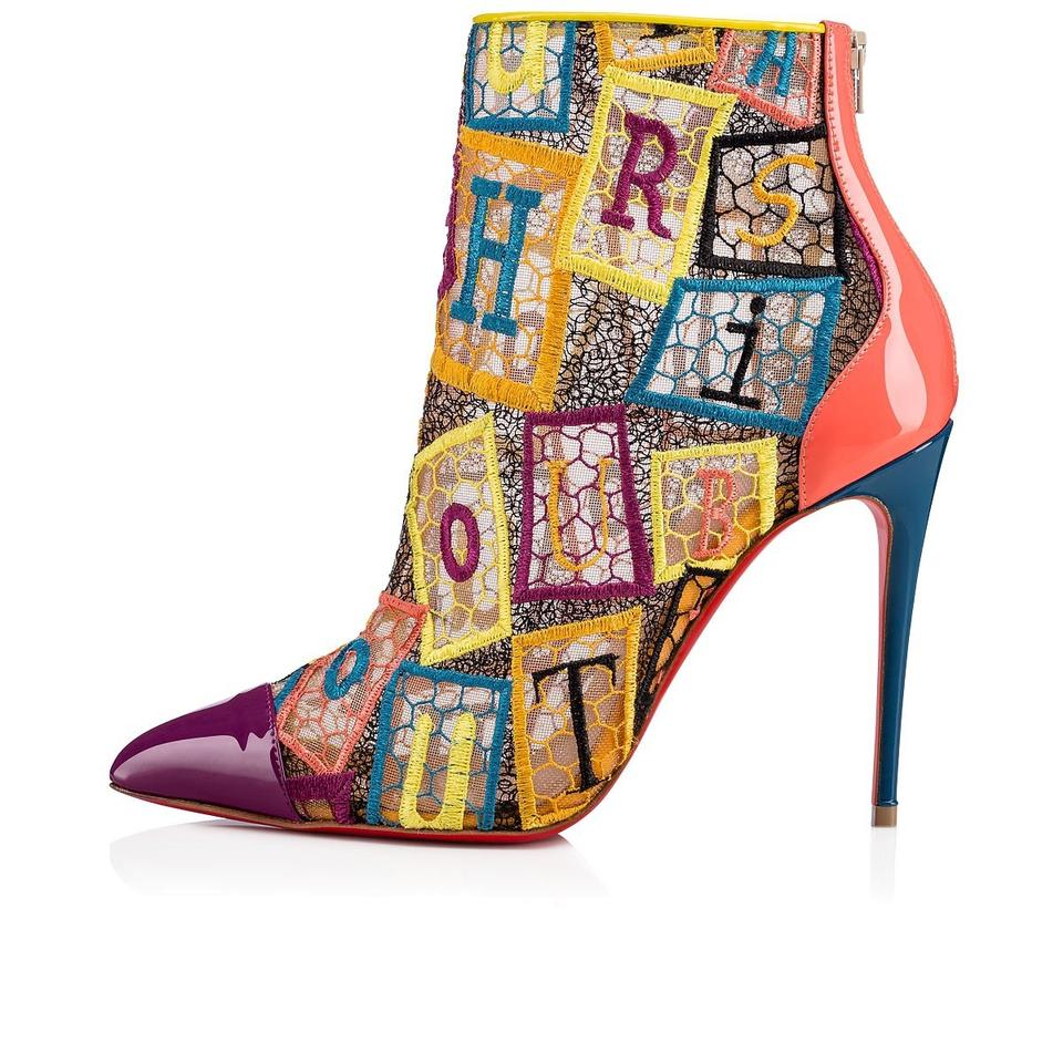 quality design ee90d 60ec6 Christian Louboutin Multicolor Gipsybootie Gipsy 100 Alpha Letter Lace  Ankle Heels Boots/Booties Size EU 35.5 (Approx. US 5.5) Regular (M, B) 32%  off ...