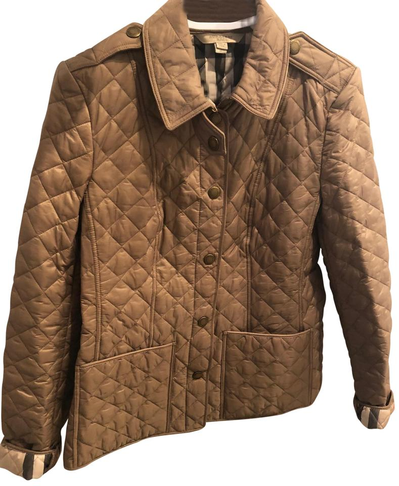 Burberry Brit Pale Fawn Diamond Quilted Jacket Size 8 M 27 Off Retail