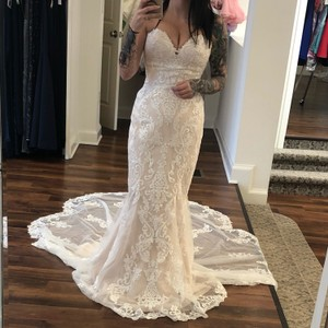 f9177abc8a64 Stella York Ivory Tulle/Lace Fit and Flare 6753 Formal Wedding Dress Size 8  (