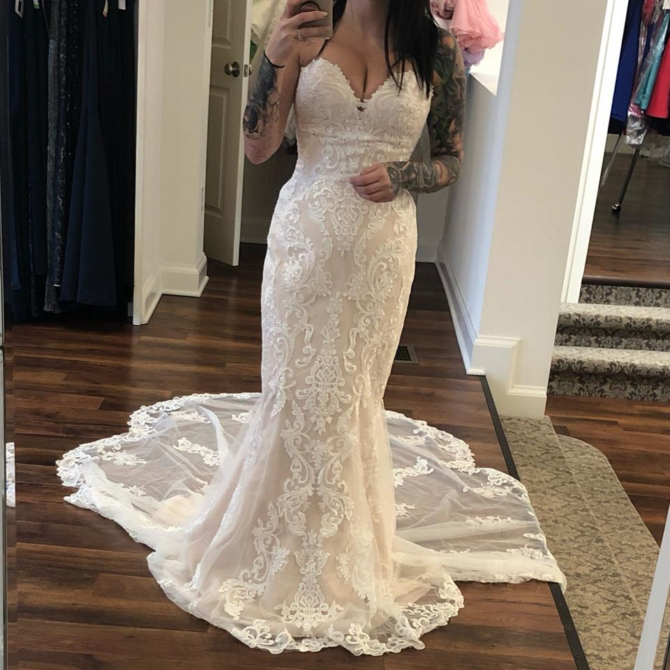 Lace Fit And Flare Wedding Gown: Stella York Ivory Tulle/Lace Fit And Flare 6753 Formal