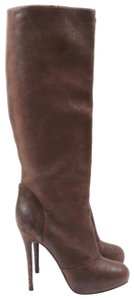 Vera Wang Leather Classic Brown Boots