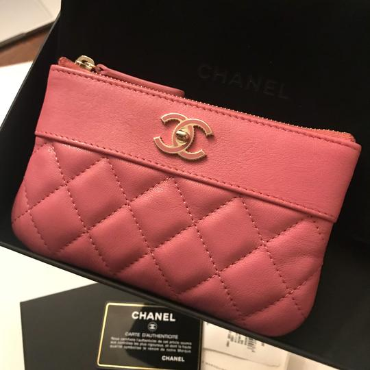 Chanel Sheepskin & Lacquered Metal Quilted Pouch Image 3