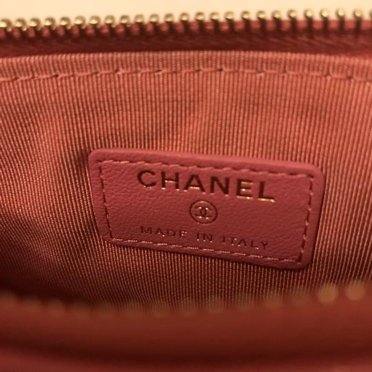 Chanel Sheepskin & Lacquered Metal Quilted Pouch Image 5