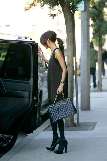 Chanel Vintage Patent Leather Tote in Black