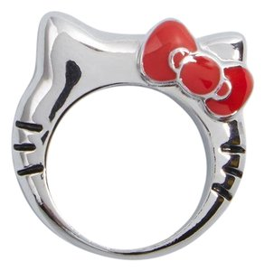Sanrio ModCloth for Hello Kitty Supportive Pal Ring, Silver