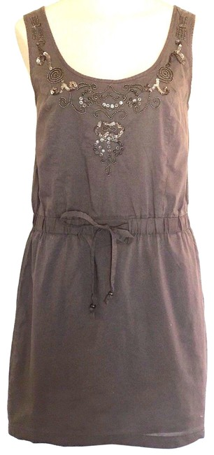Preload https://img-static.tradesy.com/item/24551403/ann-taylor-loft-brown-drawstring-waist-sleeveless-short-casual-dress-size-4-s-0-1-650-650.jpg