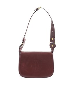70399a763544 Cartier Leather Pre-owned Adult Satchel in Burgundy