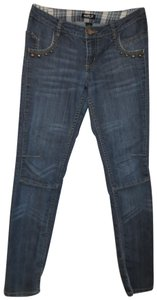 A.B.S. by Allen Schwartz Straight Studs Low Rise Stretch Skinny Jeans-Distressed
