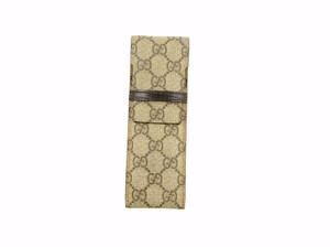Gucci Pen Lipstick Cigar Case Supreme GG Monogram Canvas Leather