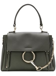 Chloé Medium Faye Crossbody Faye Satchel in Deep Forest