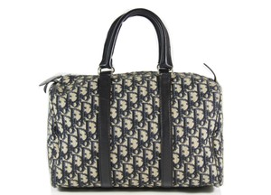 Dior Christian Boston Tote Handles Shoulder Bag