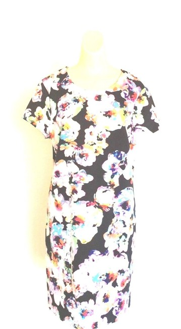 Item - Multicolor Floral Shift Mini Short Work/Office Dress Size 16 (XL, Plus 0x)