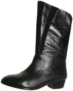 MADE Fashion Week for Impulse Leather Suede Modal Knit 90's Black Boots