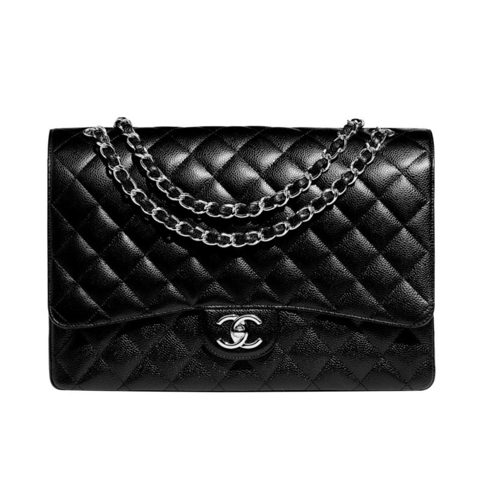 60cbc51cf597 Chanel Classic Flap Maxi Caviar Maxi and Crossbody Black Leather Shoulder  Bag