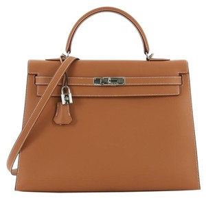 Hermès Leather Satchel in natural
