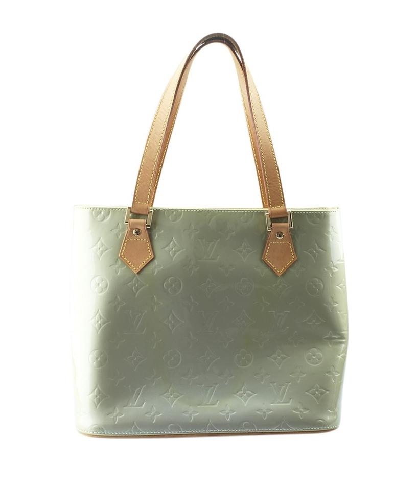 26fff697dbb13 Louis Vuitton Patent Leather France Gold-tone Leather Tote in Green Image  10. 1234567891011