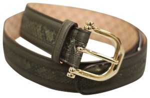 Gucci GUCCI Python Leather BELT 95/38 w/Metal Buckle 245885 3216