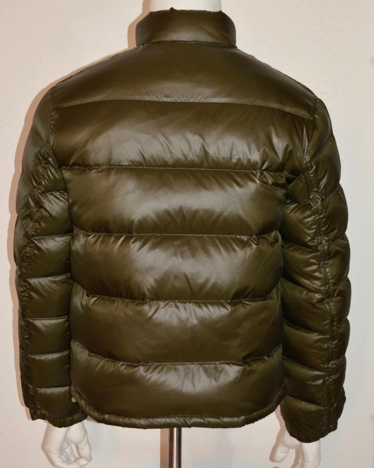Burberry Green Brit Mens Duck Down Quilted Puffer Jacket