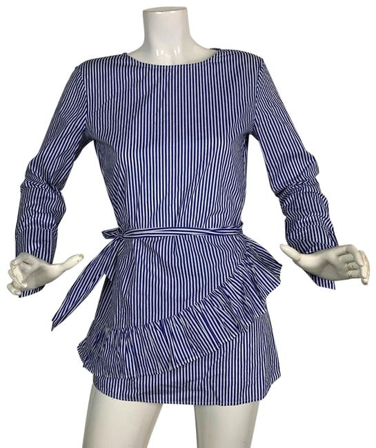 Preload https://img-static.tradesy.com/item/24552100/mango-multicolor-tunic-stripes-belted-long-sleeves-career-casual-blouse-size-6-s-0-1-650-650.jpg