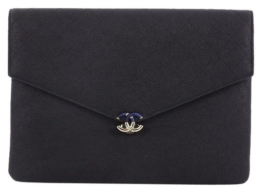 Preload https://img-static.tradesy.com/item/24552101/chanel-clutch-medium-thread-around-envelope-in-quilted-black-caviar-leather-clutch-0-1-540-540.jpg