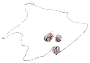 Tiffany & Co. Tiffany Twist Knot Earrings & Necklace Set in Sterling Silver