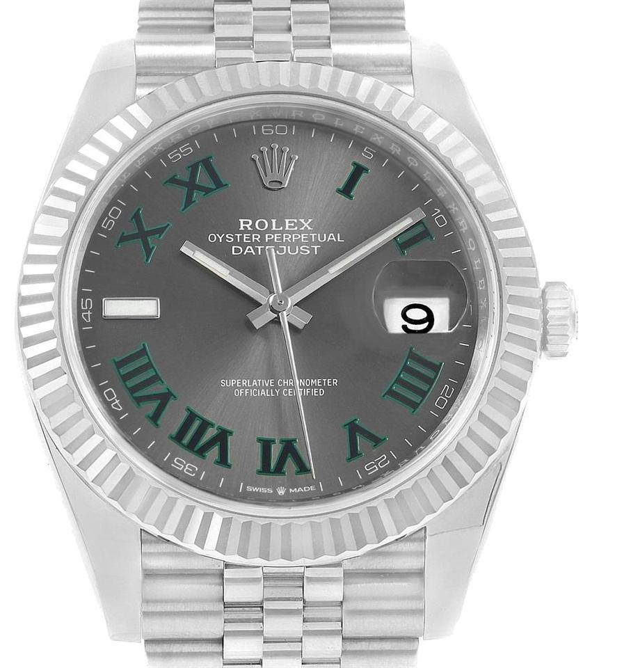 9598ef5a6c1 Rolex Rolex Datejust 41 Steel White Gold Slate Roman Dial Mens Watch 126334  Image 0 ...