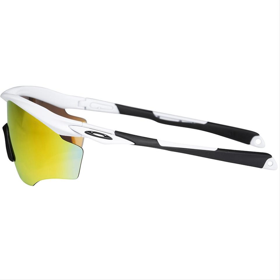 5978930067 Oakley M2 Xl Polished White Frame   Fire Iridium Mirrored Lens ...