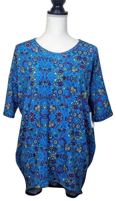 Item - Blue Gold Floral Irma Tunic Size 2 (XS)