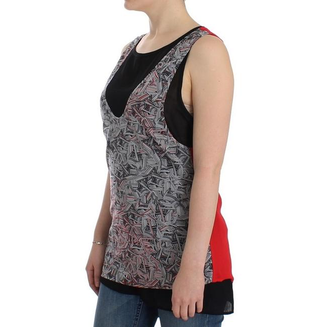 Costume National D12530-2 Women's Sleeveless Top Black / Red Image 1