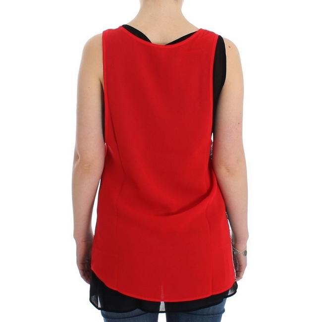 Costume National D12530-2 Women's Sleeveless Top Black / Red Image 2