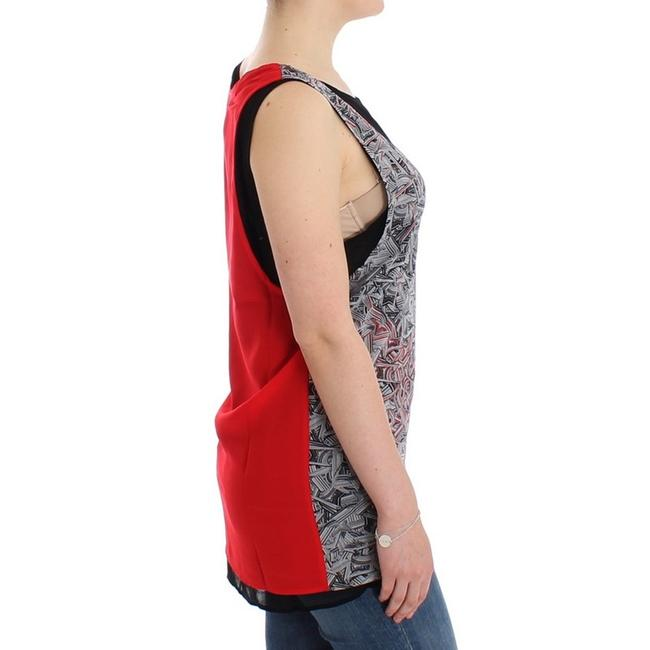 Costume National D12530-2 Women's Sleeveless Top Black / Red Image 3