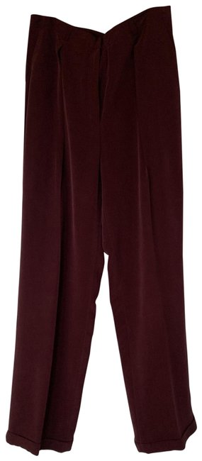 Preload https://img-static.tradesy.com/item/24552517/jones-new-york-bordeaux-classic-in-silk-pants-size-12-l-32-33-0-1-650-650.jpg