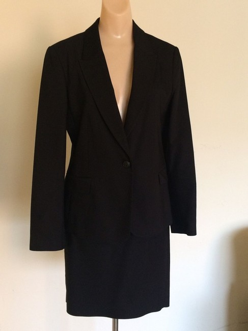 Zara Zara Collection 2 Piece Black Skirt Suit Image 3