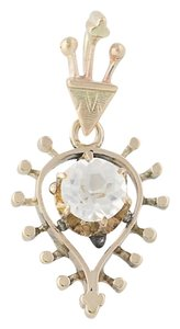 Other Victorian Glass Pendant - 10k Yellow Gold N7871