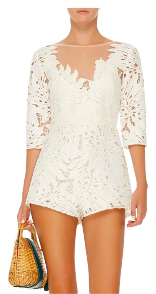ec1025d57a alice McCALL White Rumours Lace Playsuit Romper Jumpsuit - Tradesy