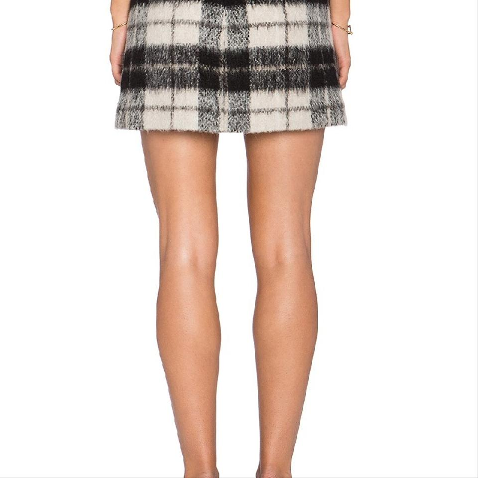 872050a77 Kate Spade Wool Wool Blend Check Plaid Mini Skirt Black Image 8. 123456789