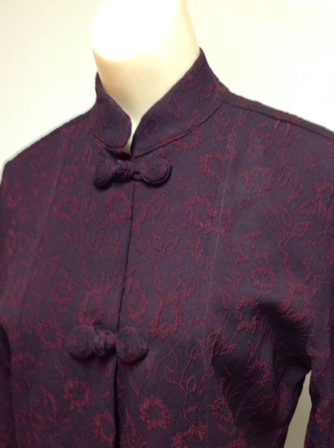 Johnny Was Collection Asian Mandarin Wine Red Black Image 2