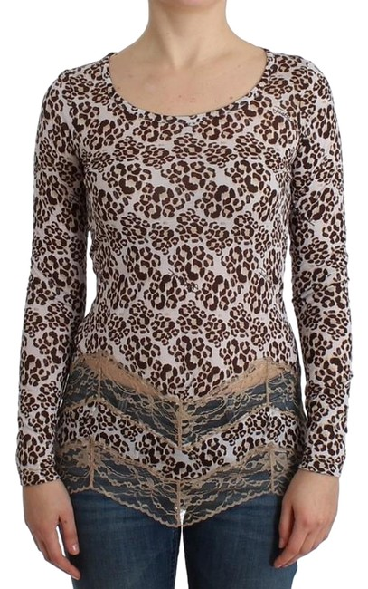 Preload https://img-static.tradesy.com/item/24553061/roberto-cavalli-brown-d11989-2-women-s-longsleeved-lace-it-44-l-tee-shirt-size-12-l-0-1-650-650.jpg