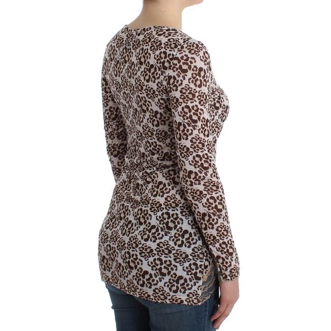 Cavalli Women's Longsleeved Lace D11989-1 T Shirt Brown Image 2