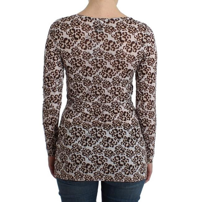 Cavalli Women's Longsleeved Lace D11989-1 T Shirt Brown Image 3