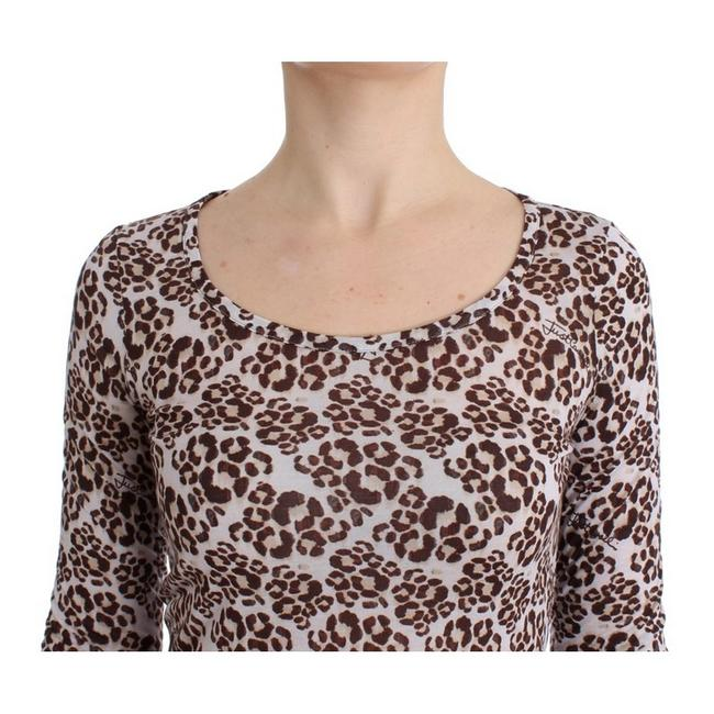 Cavalli Women's Longsleeved Lace D11989-1 T Shirt Brown Image 4