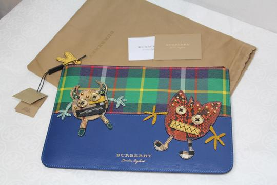 Burberry Blue multi Clutch Image 1
