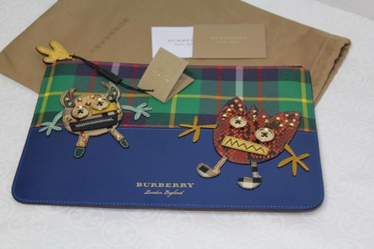 Burberry Blue multi Clutch Image 2