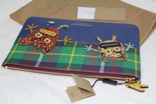 Burberry Blue multi Clutch Image 4