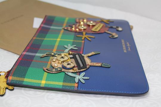 Burberry Blue multi Clutch Image 7